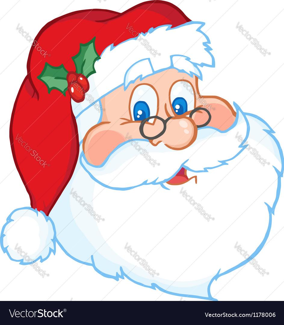 Classic Santa Claus Head Royalty Free Vector Image