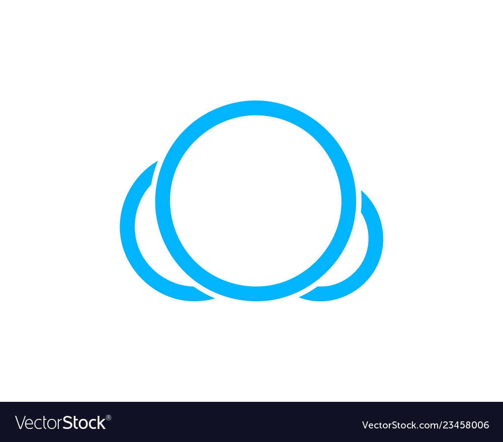 Cloud logo design template icon