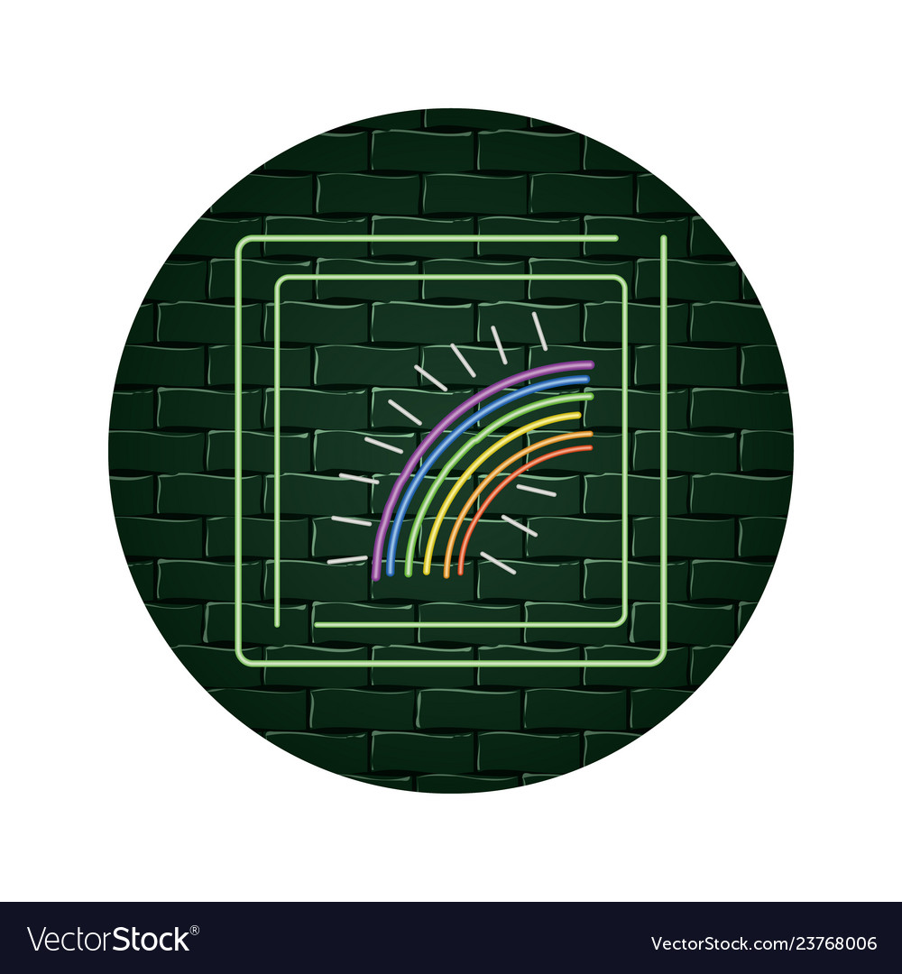 Magic rainbow cartoon