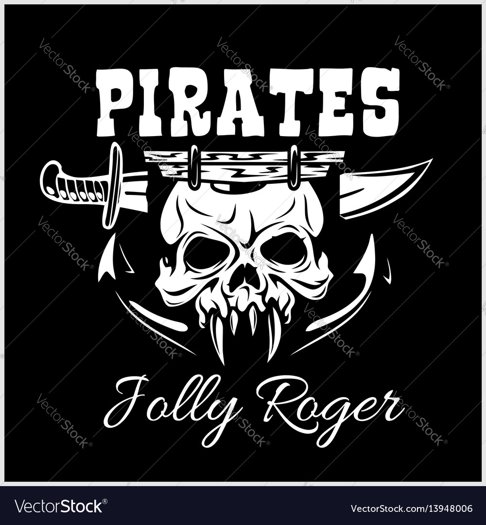 Pirates jolly roger symbol poster of skull