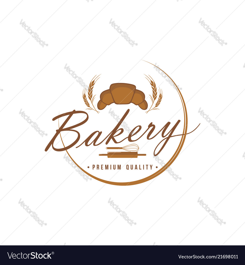 Bakery and dessert logo sign template