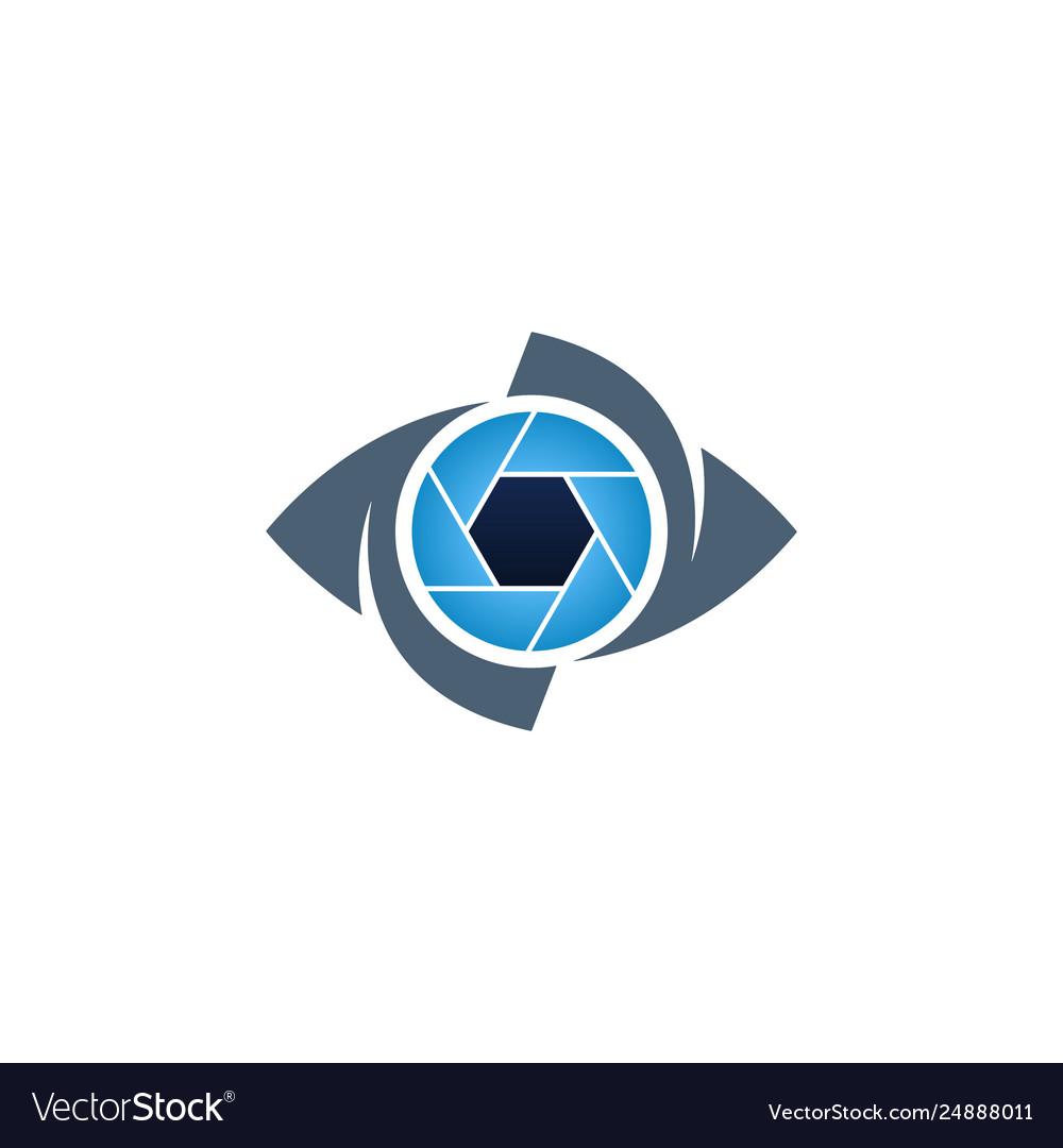 Blue Eye And Shutter Creative Icon