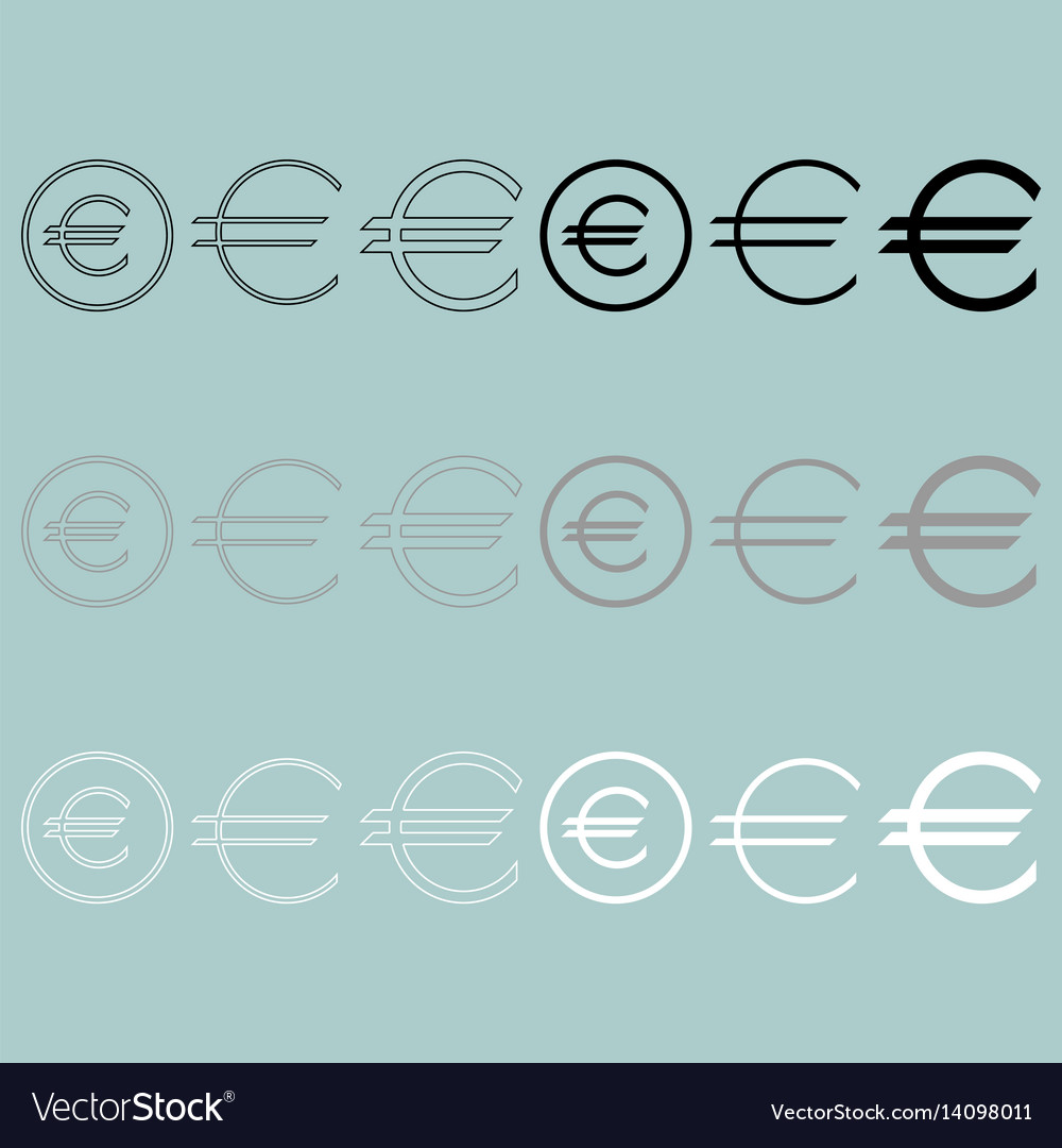 Euro sign simple and in round icon euro sign vector image