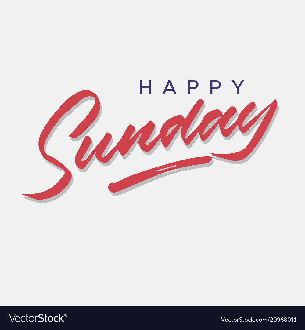 Happy sunday vintage hand lettering