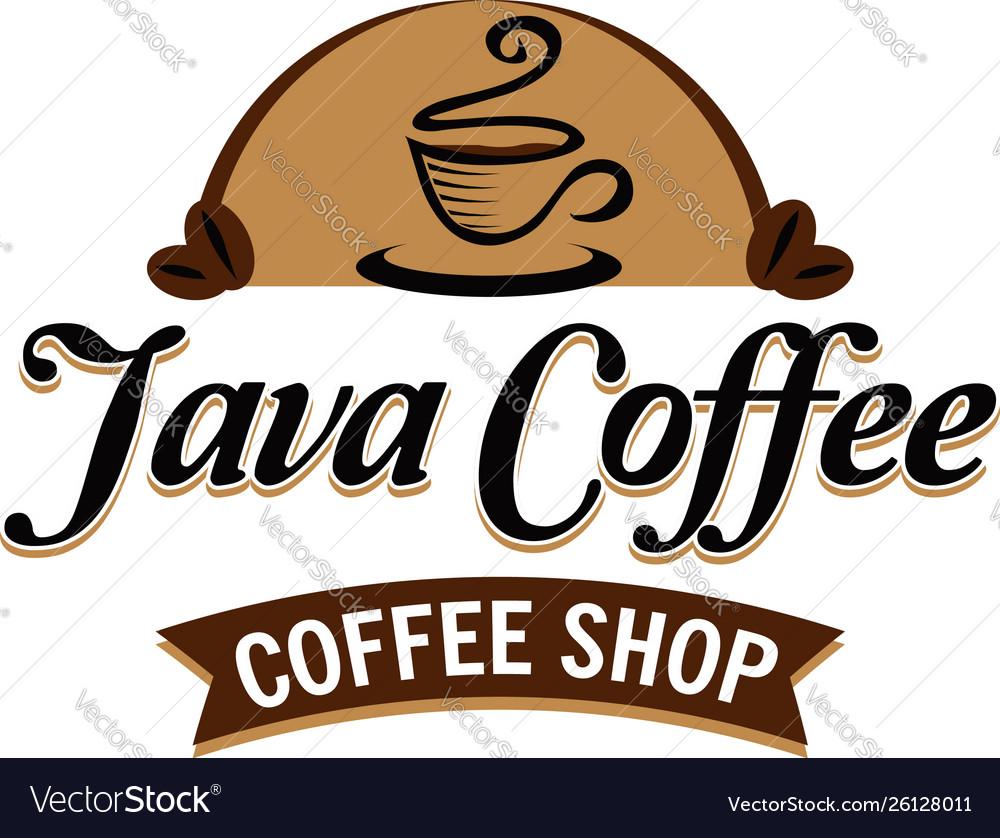 Java coffee classic logo sign symbol icon