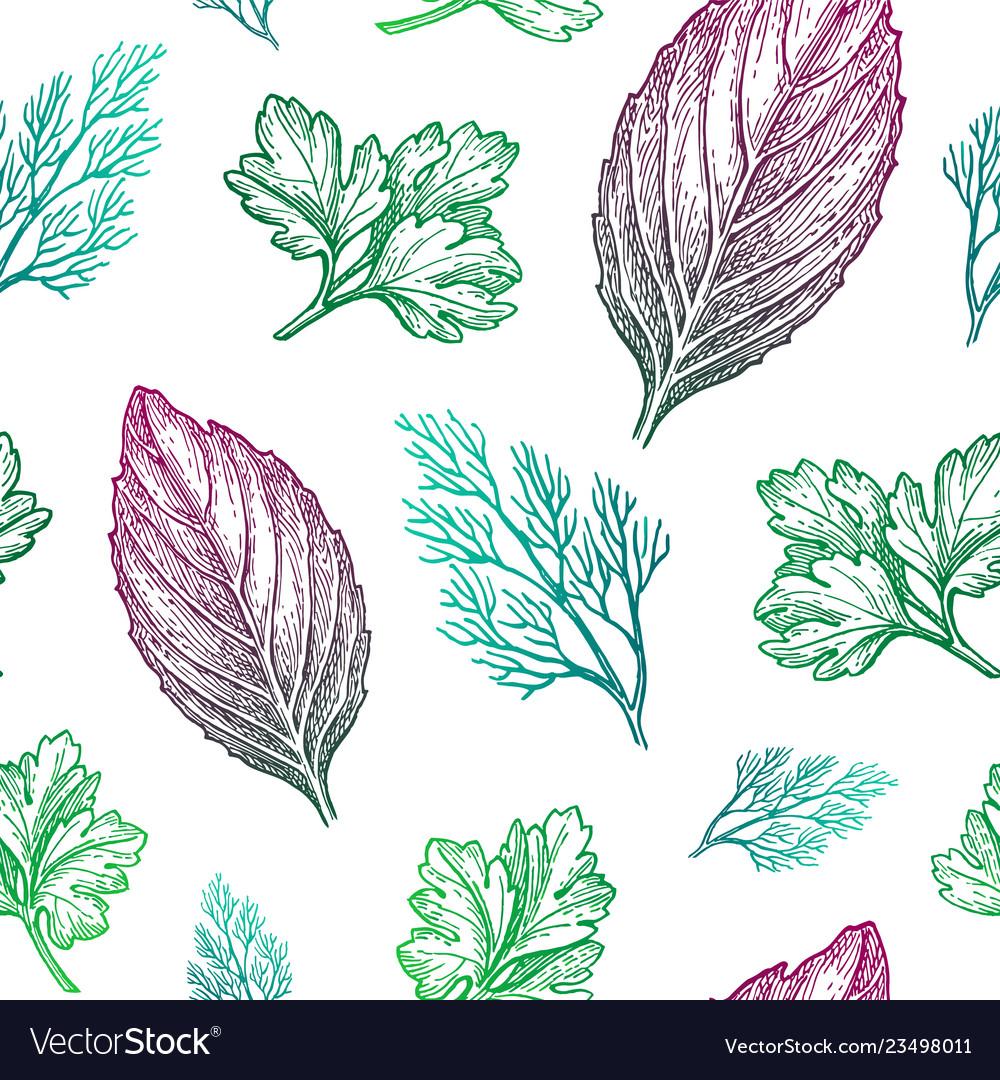 Seamless pattern with seasonings