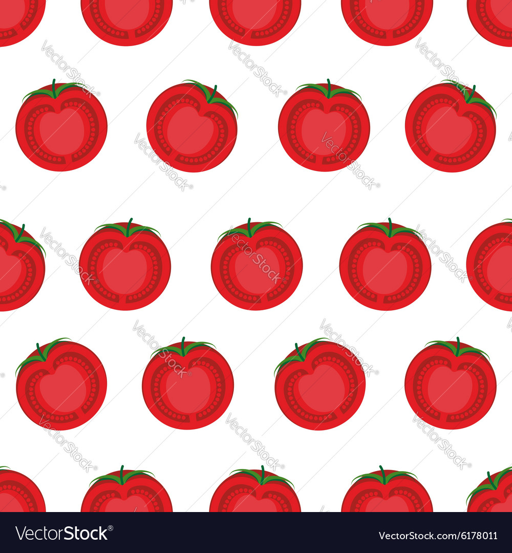 Slice tomato seamless pattern background from