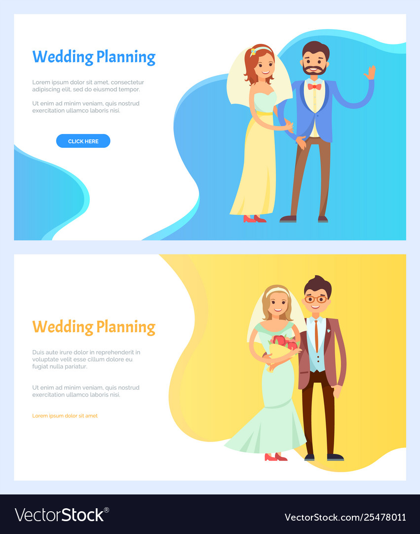 Wedding Planning Websites.Wedding Planning And Celebration Websites Set