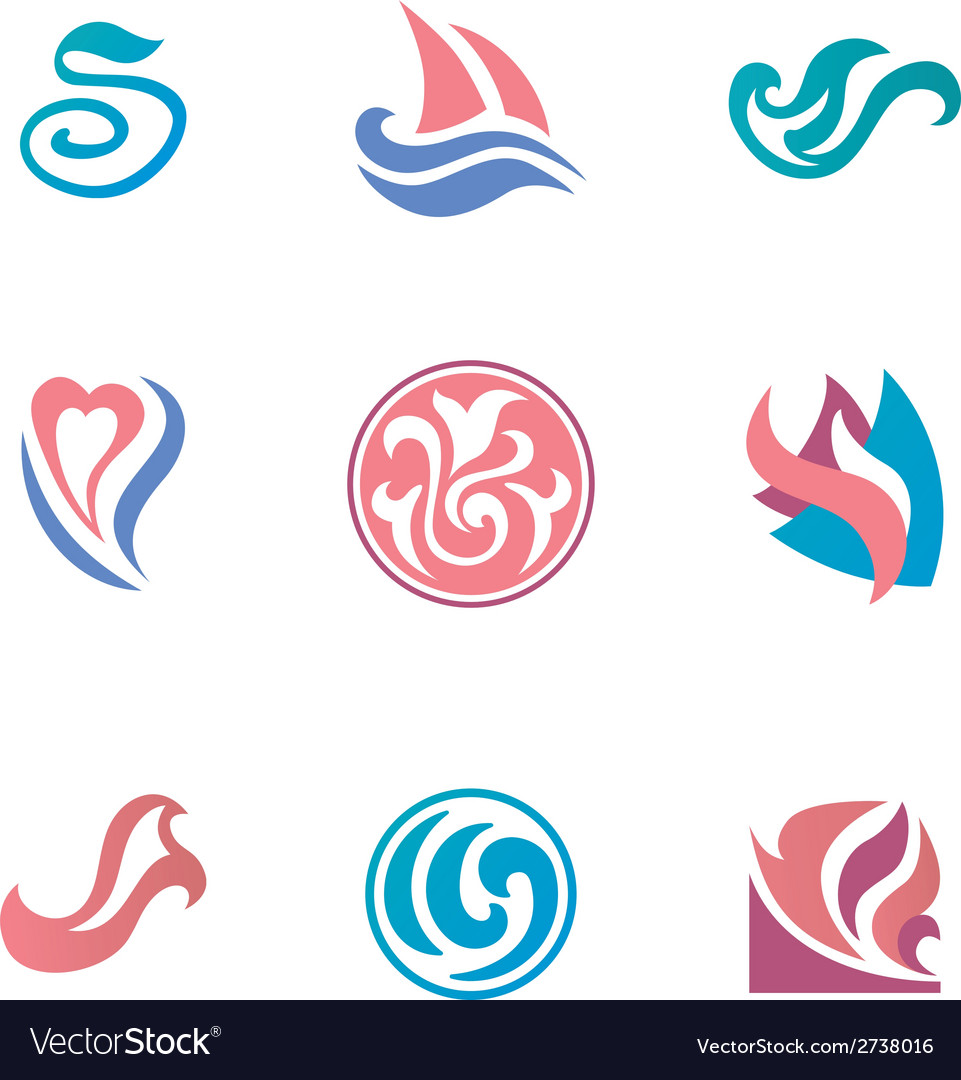 Abstract beauty icons for corporate identity