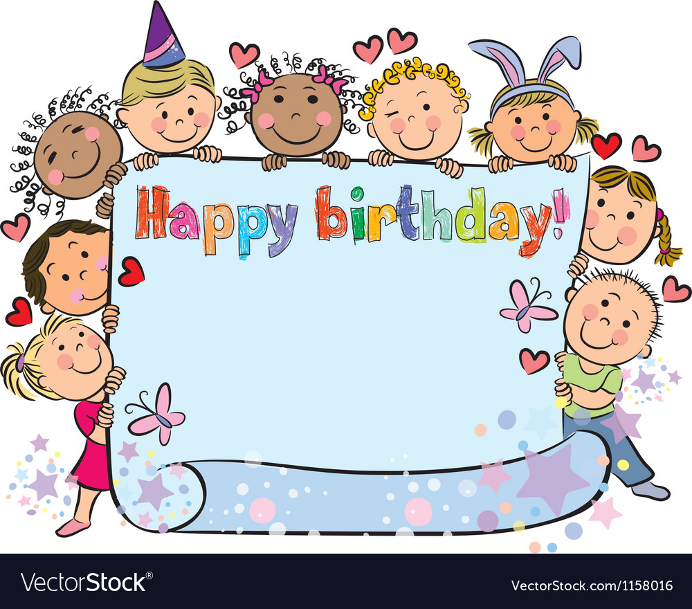 Birthday kids vector image