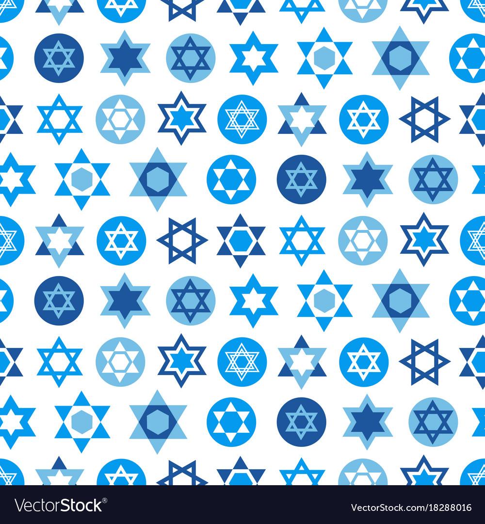 Blue Star Of David Symbols Collection Royalty Free Vector