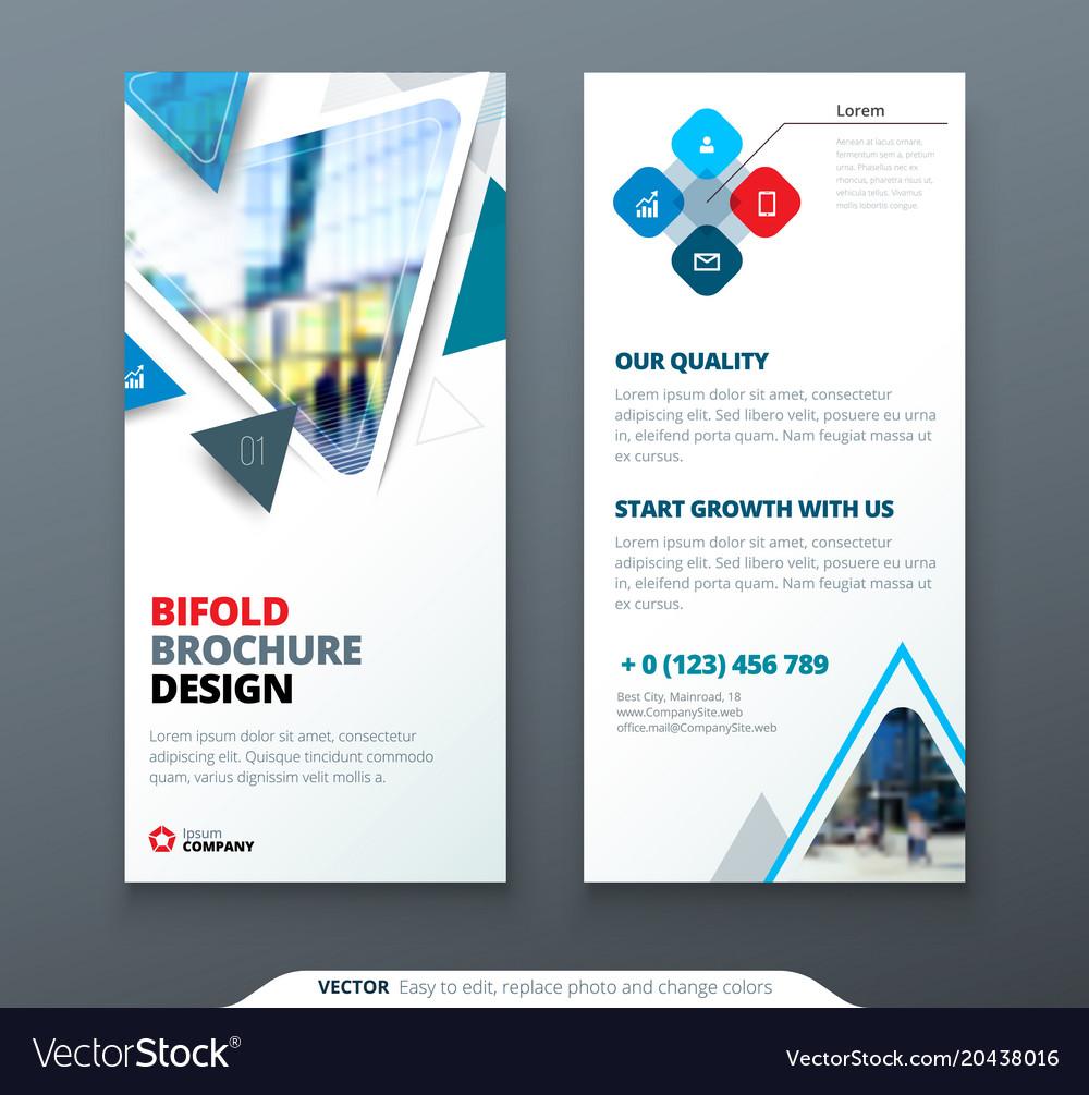 Dl Flyer Design Blue Template Dl Flyer Banner Vector Image