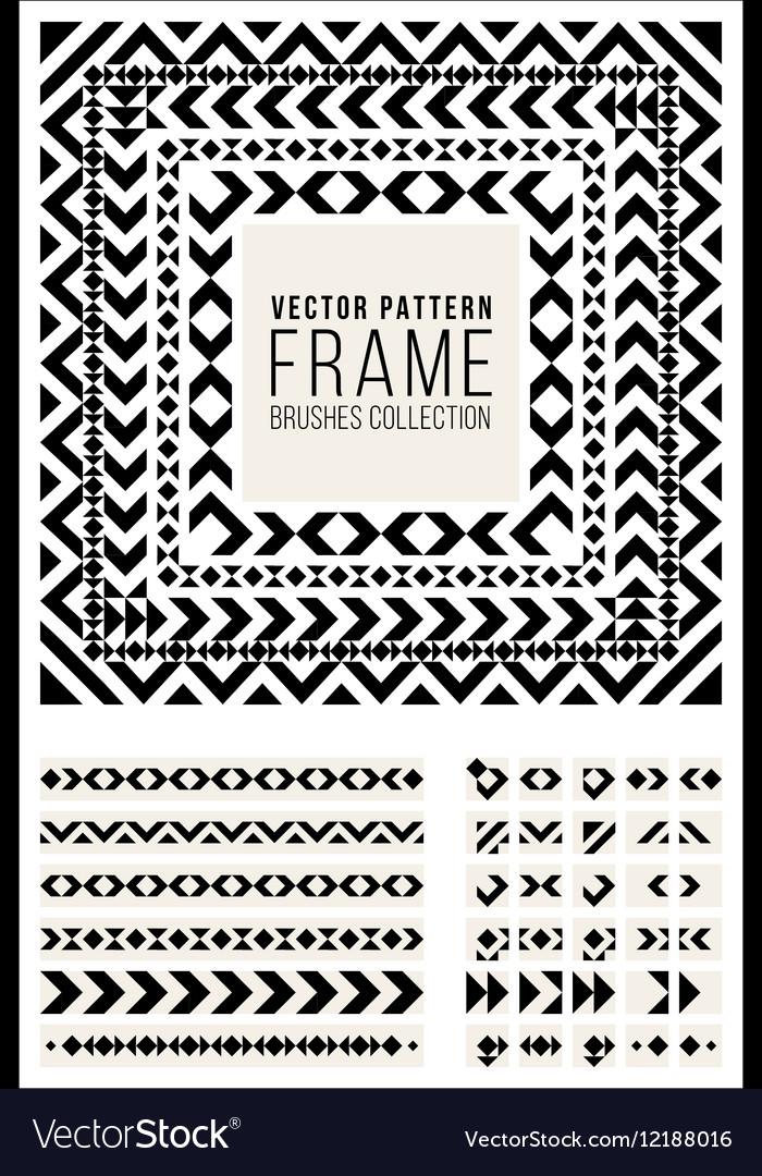 Geometric Decorative Frame Triangle Rhombus vector image
