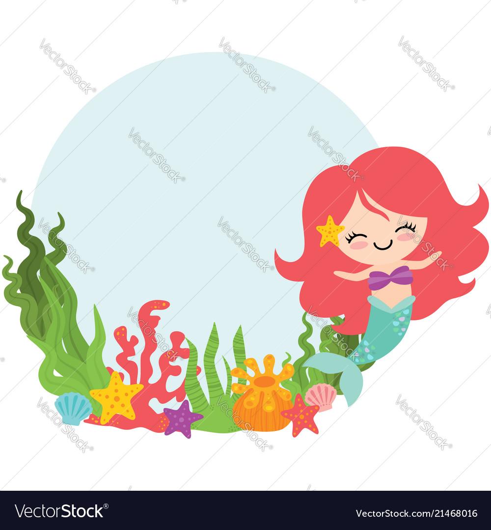 Mermaid circle wreath