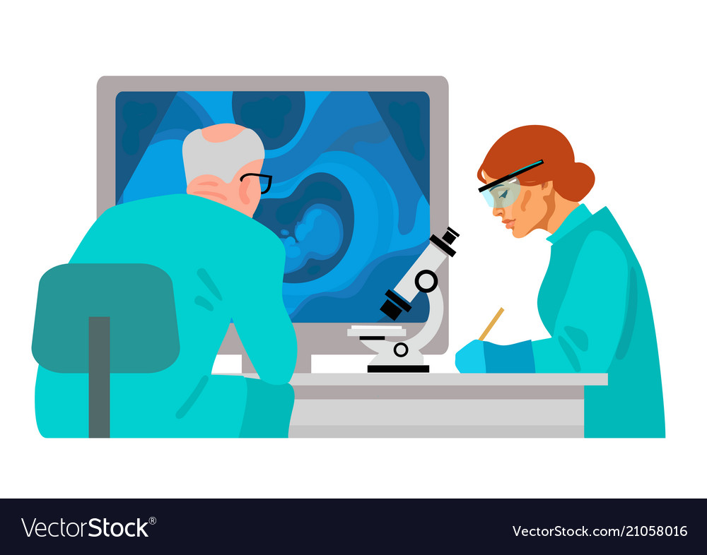 Scientists in medical laboratory