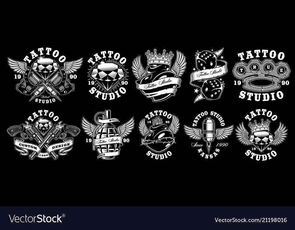 Set of custom tattoo designs