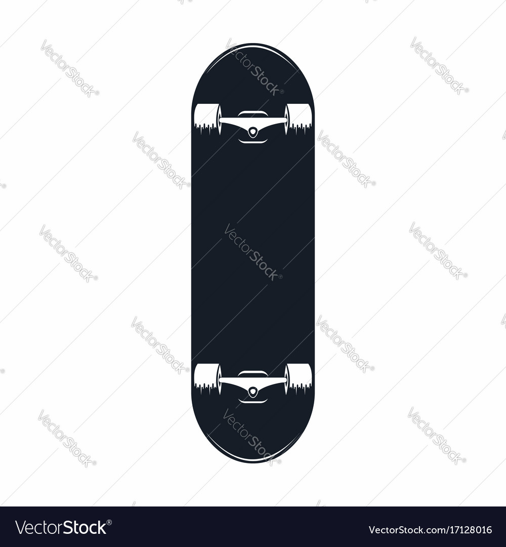 Skateboard vintage skateboard icon isolated on