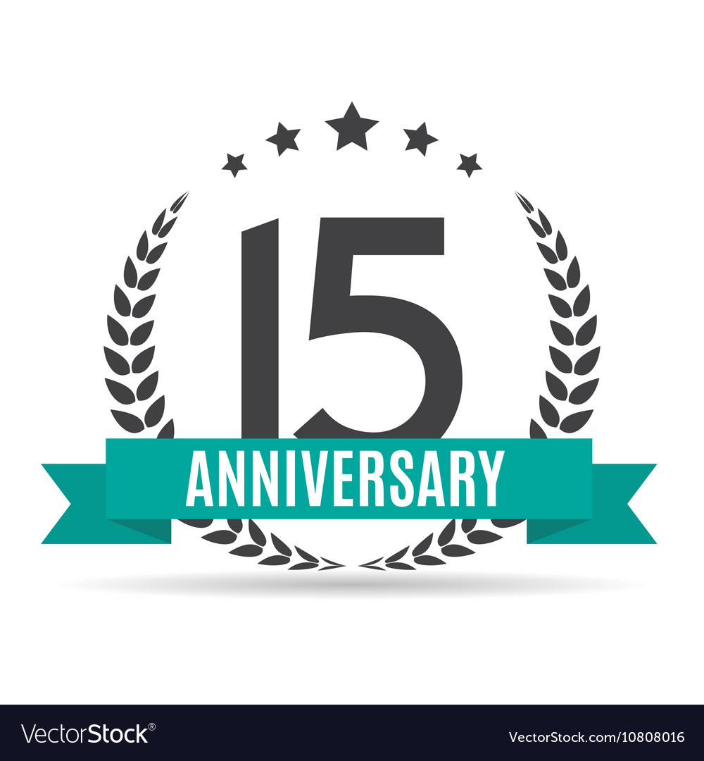 Template Logo 15 Years Anniversary Royalty Free Vector Image
