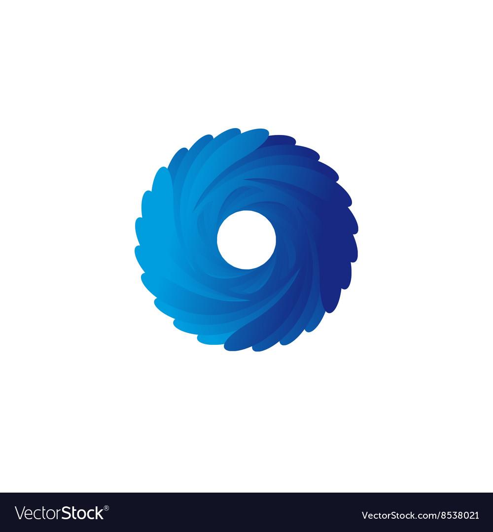 Abstract blue spiral logo vector image