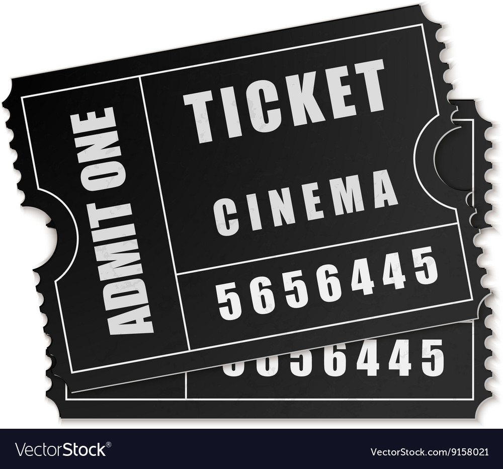 admit one ticket icon isolated royalty free vector image