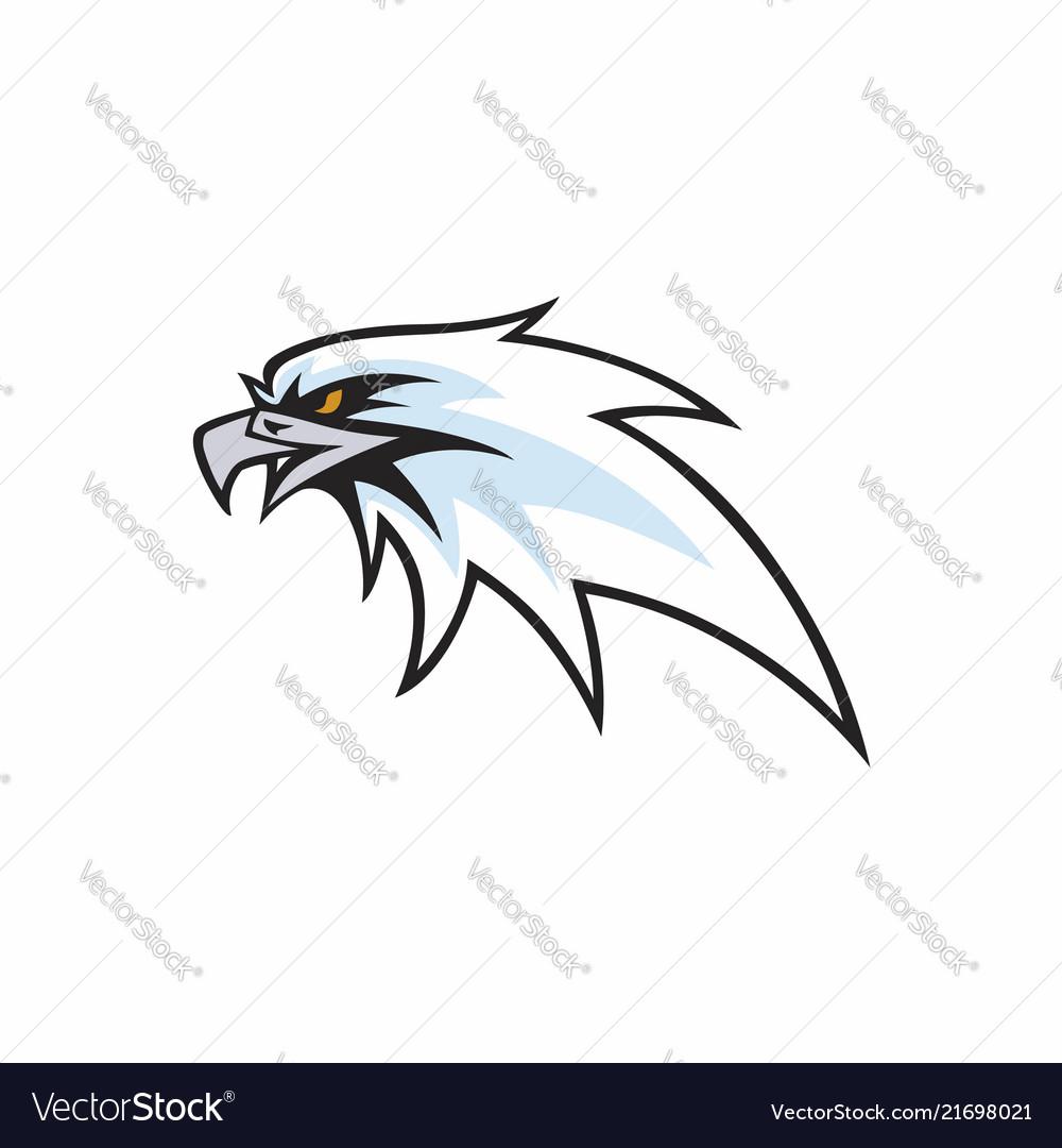 Angry eagle head logo design sign icon
