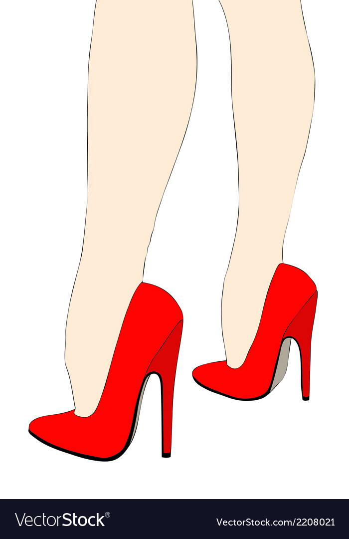 7f9755e8edc Beautiful legs in high heels Royalty Free Vector Image