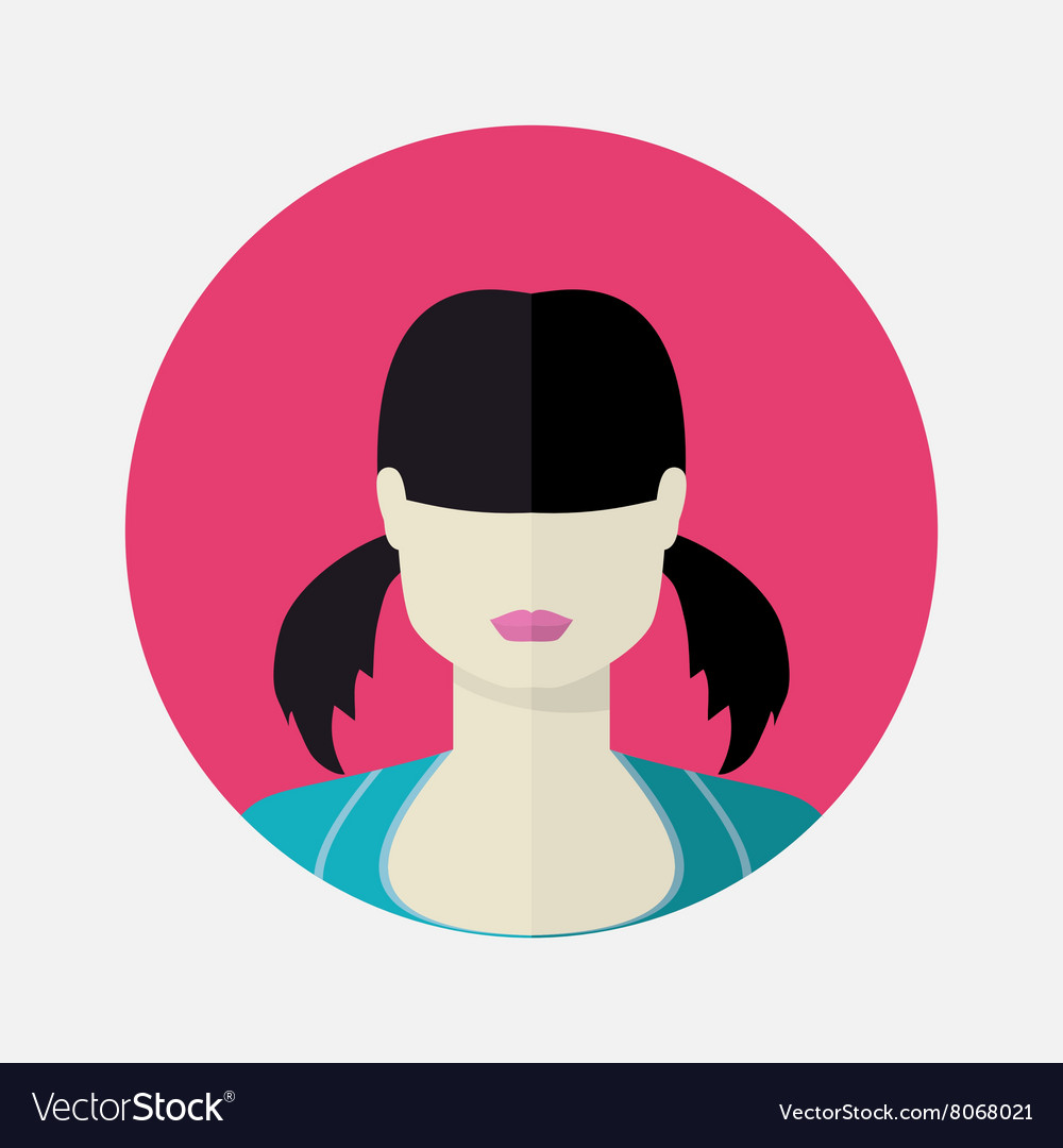 Female avatar in flat style
