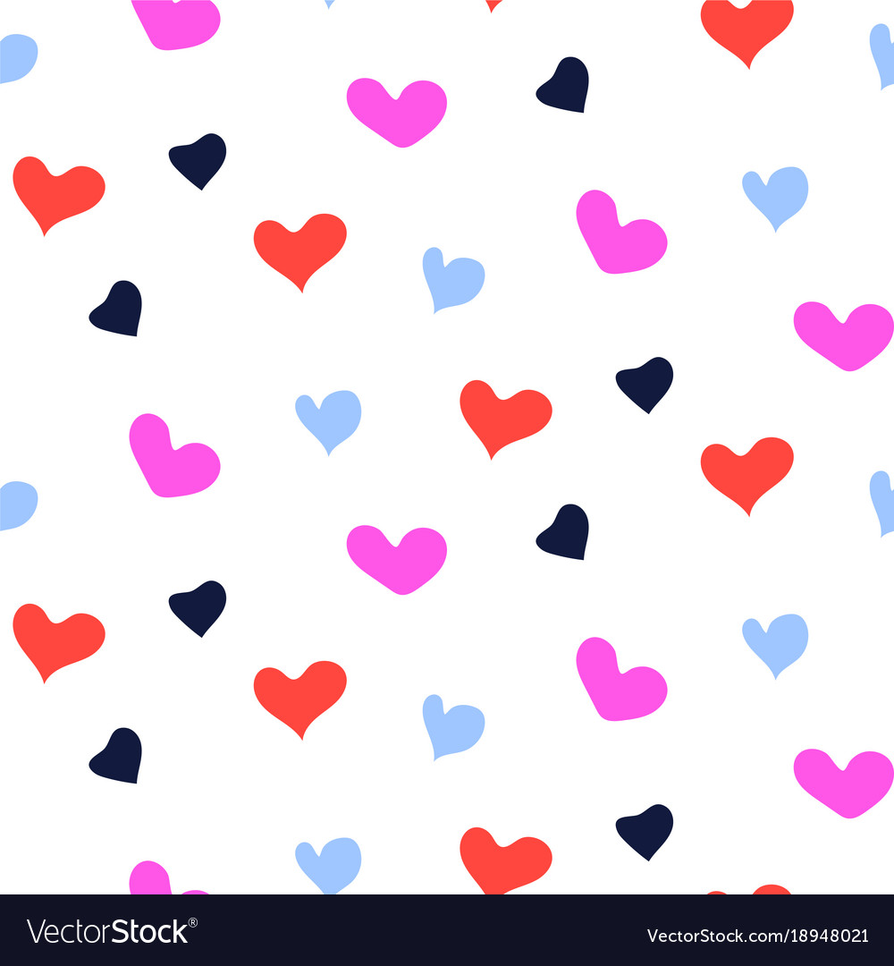 Hearts bright berry color shapes color seamless vector image