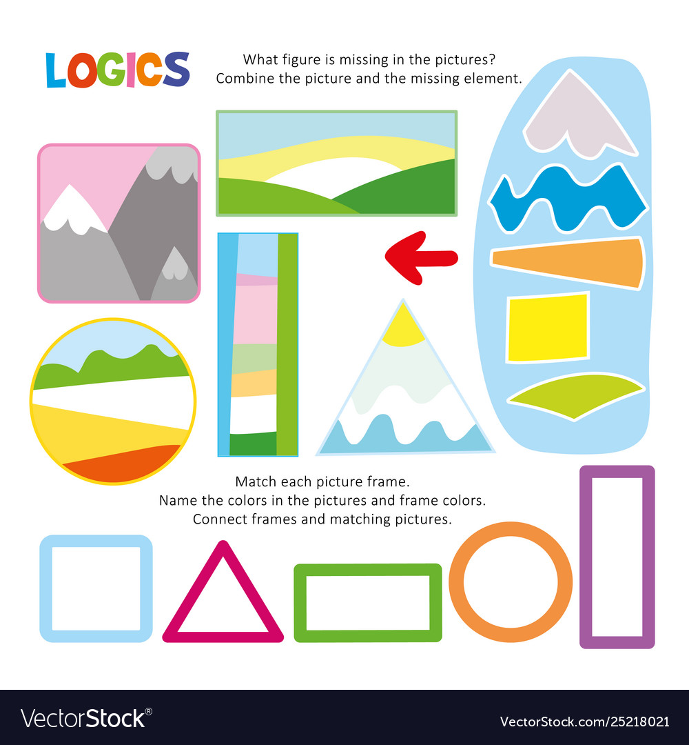 Logic kid combine picture game printable template