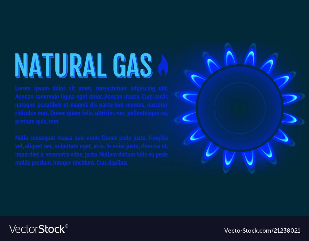 Natural gas banner