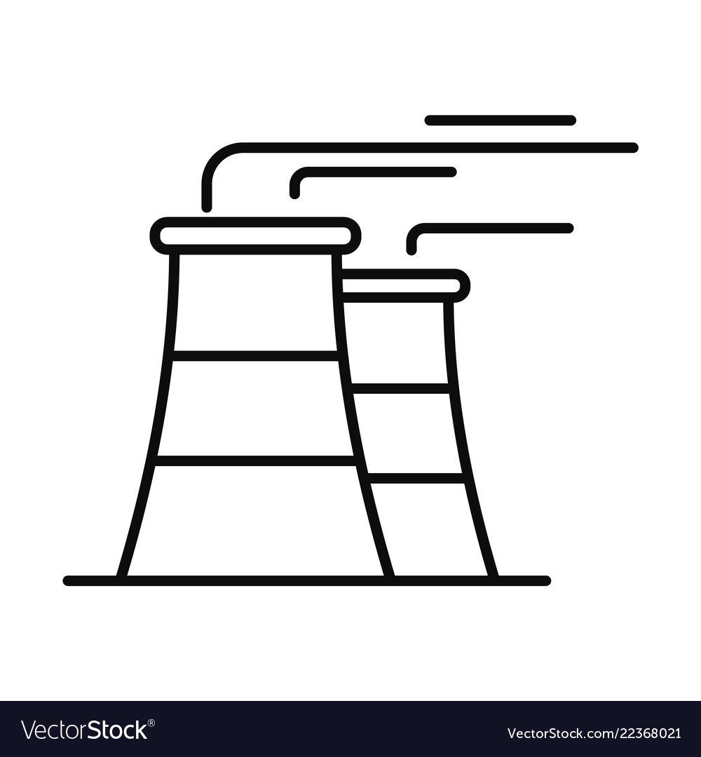 Power plant icon outline style