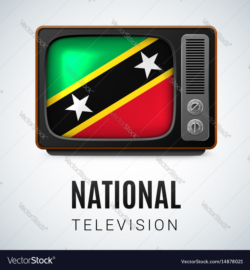 Round icon of federation of saint kitts and nevis vector image