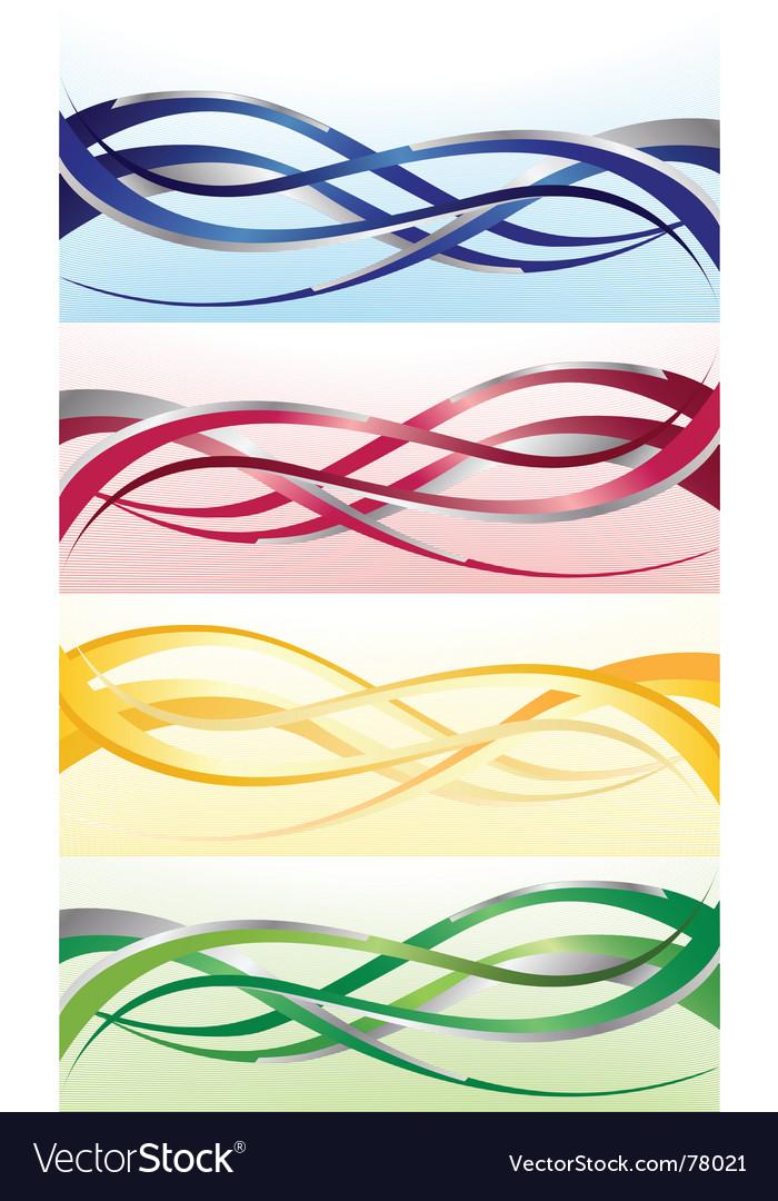 Wave Designs Royalty Free Vector Image VectorStock