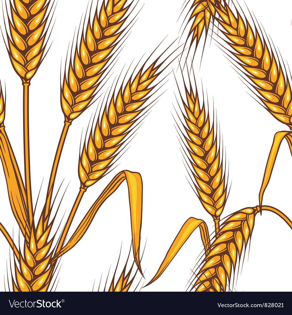 Wheat field Seamless pattern