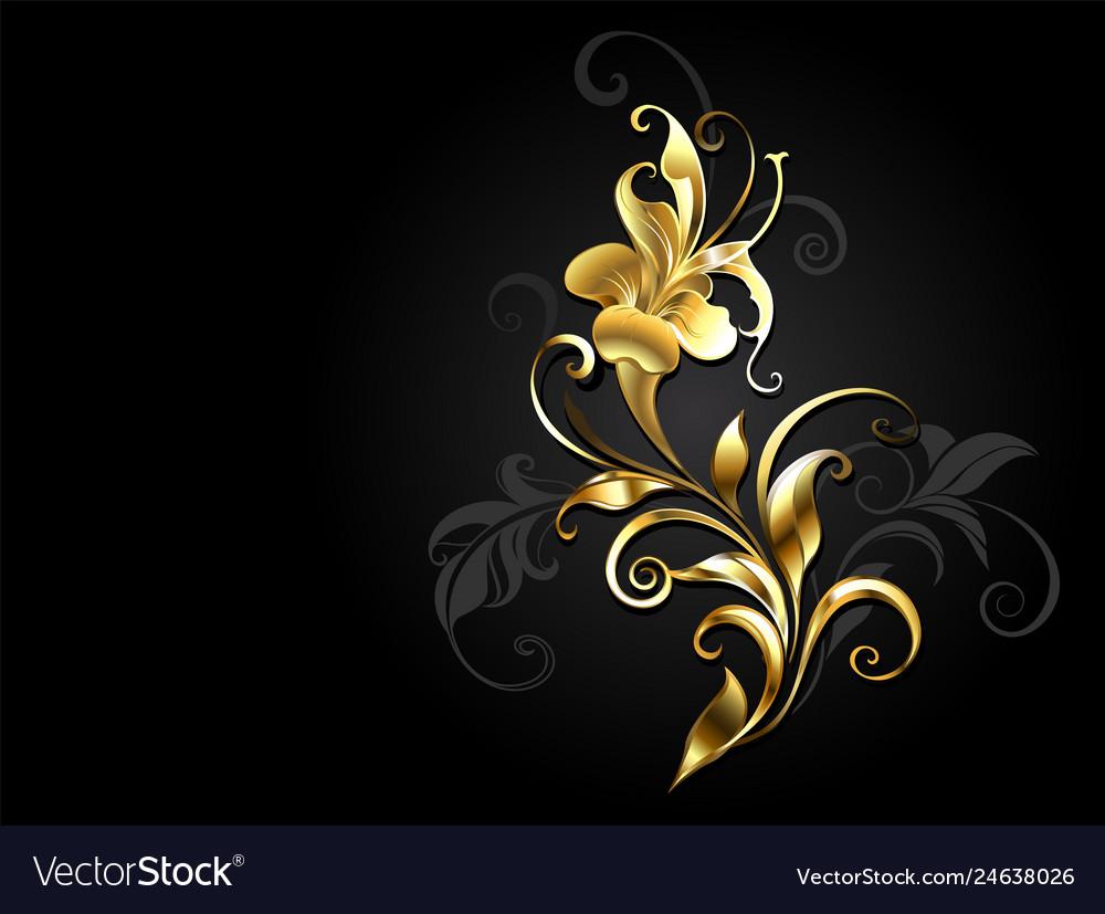 Antique golden flower