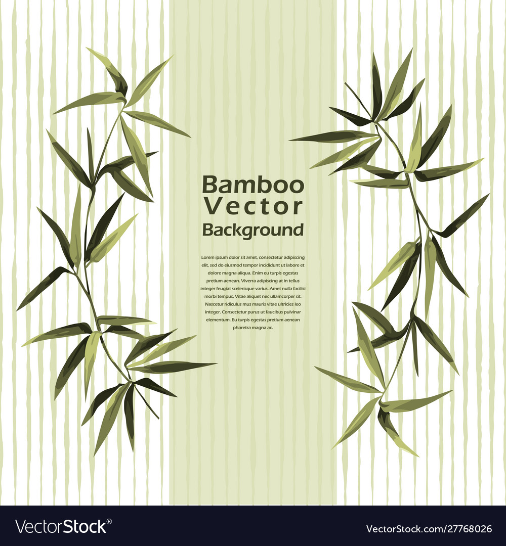 Bamboo template with text place exotic