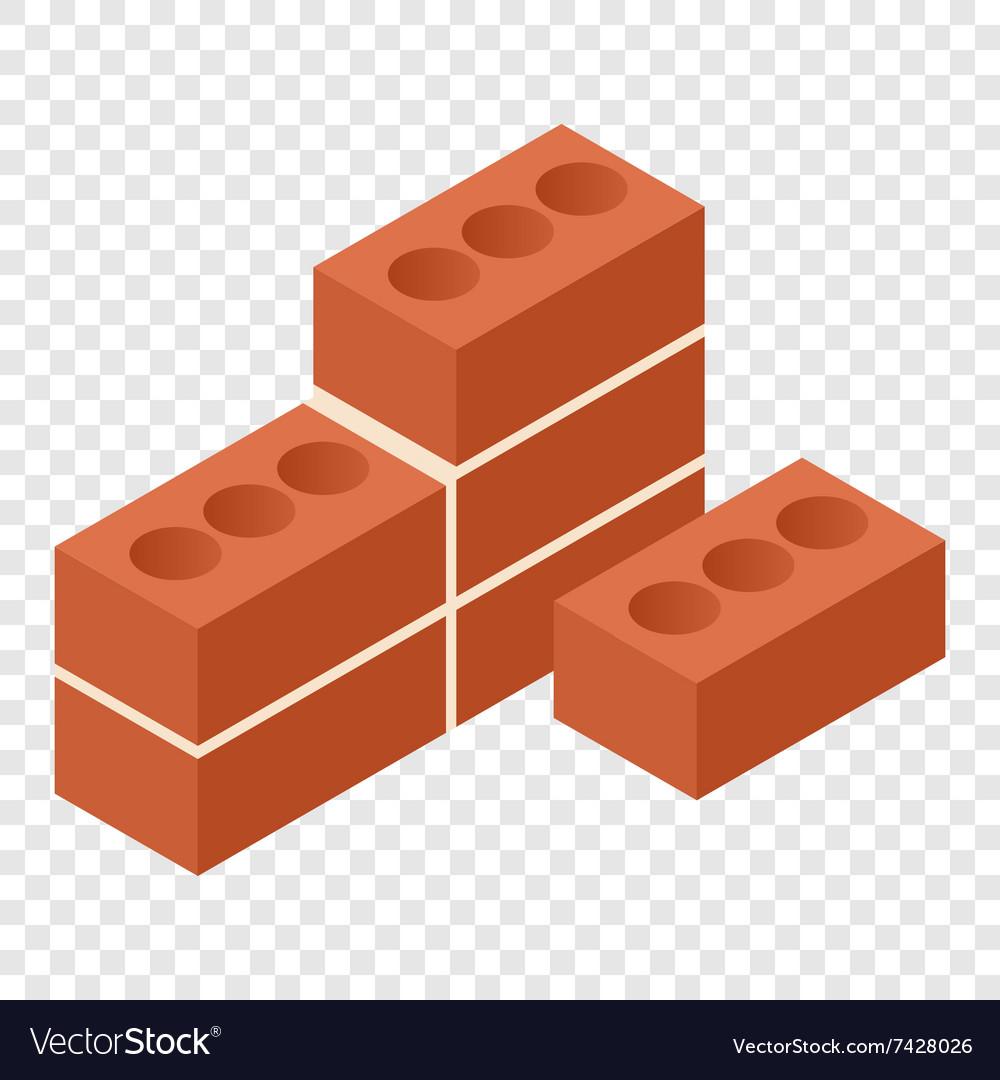Bricks isometric 3d icon