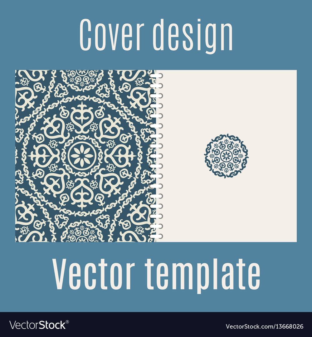 Cover design with arabic pattern
