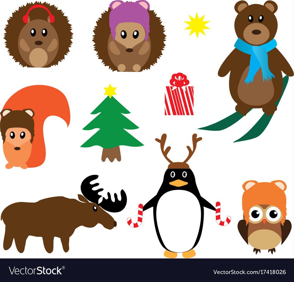 Funny winter animals