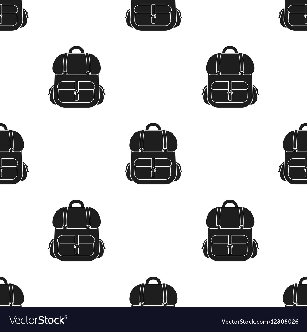Hunting backpack icon in black style isolated on