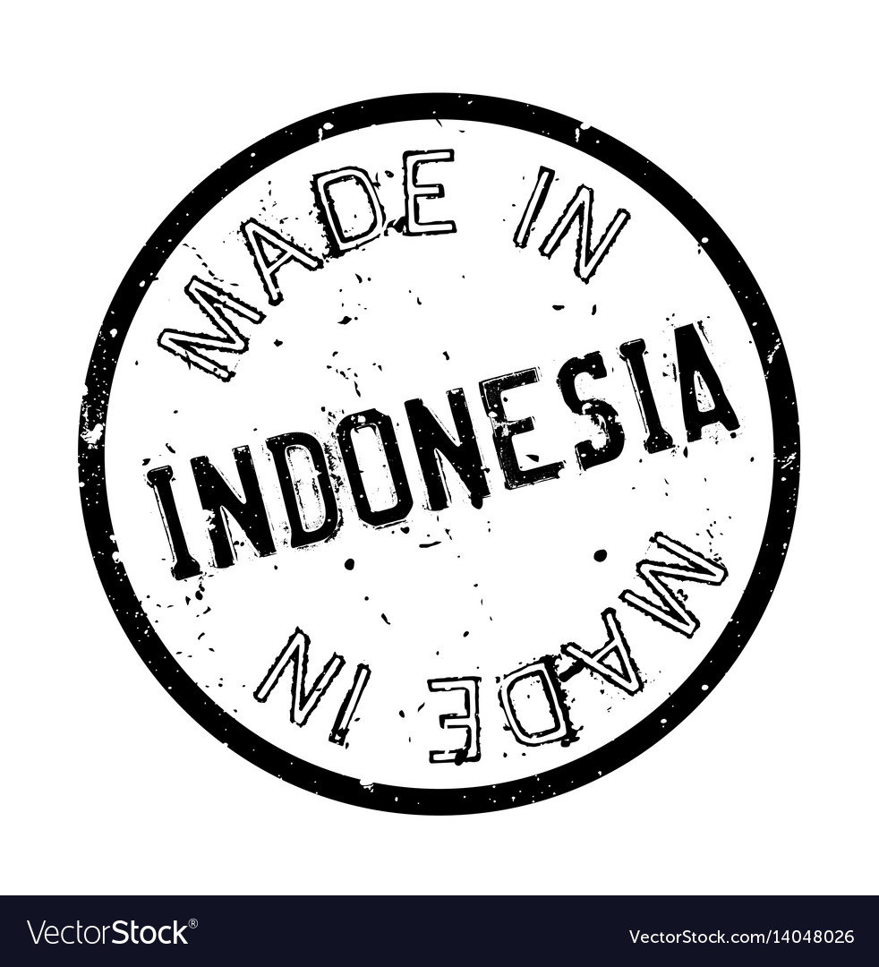 Made in indonesia rubber stamp