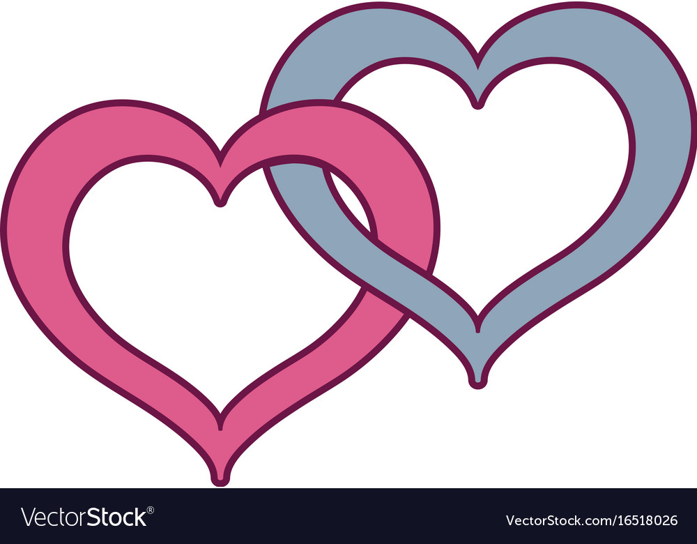 Nice heart symbol to love and passion vector image