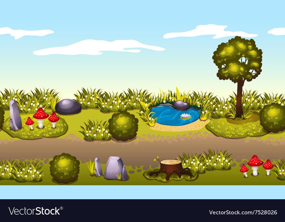 Seamless game environment Summer landscape