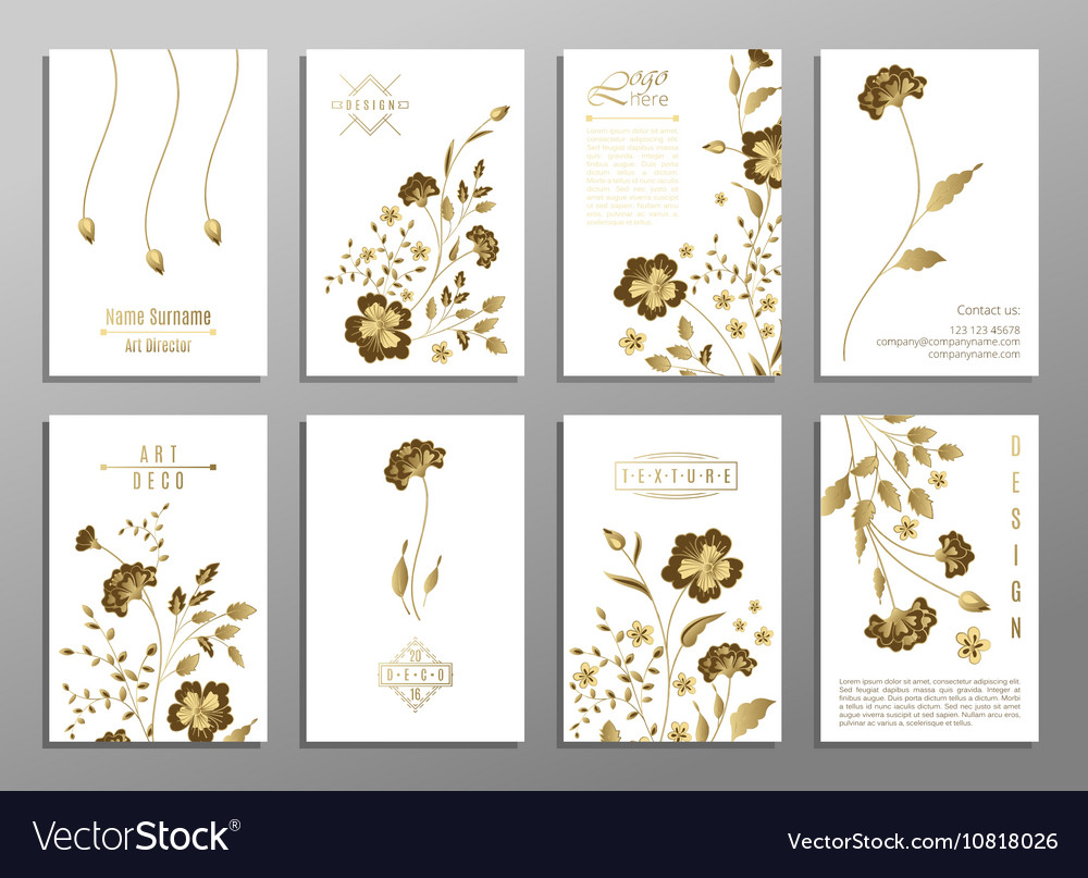 Set of flower wedding ornament concept Art
