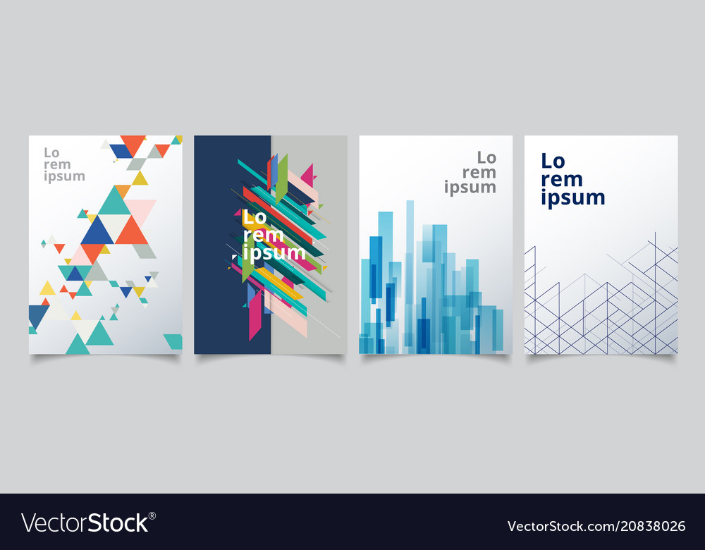 Set template geometric covers design gradient