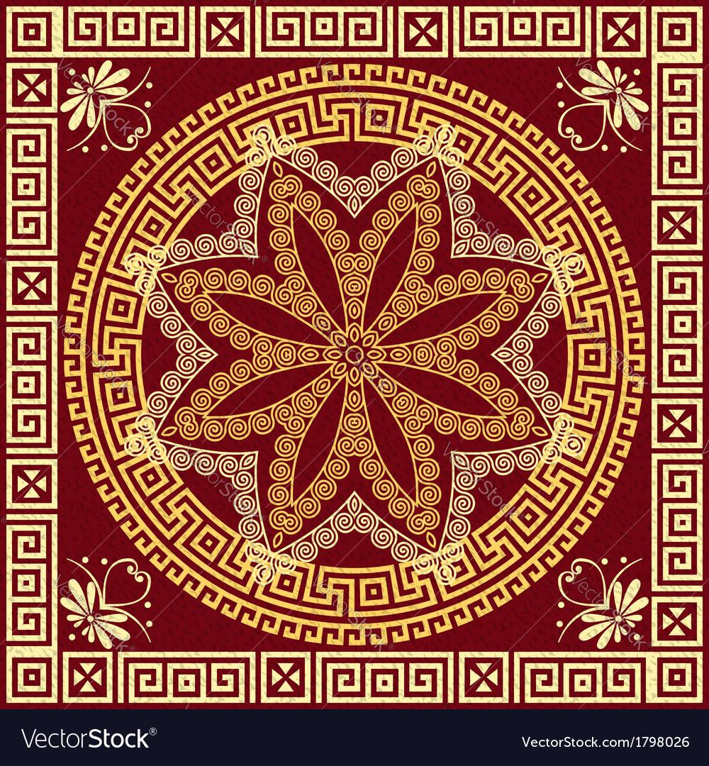 313d13ebf2fc Traditional vintage golden Greek ornament Meander Vector Image