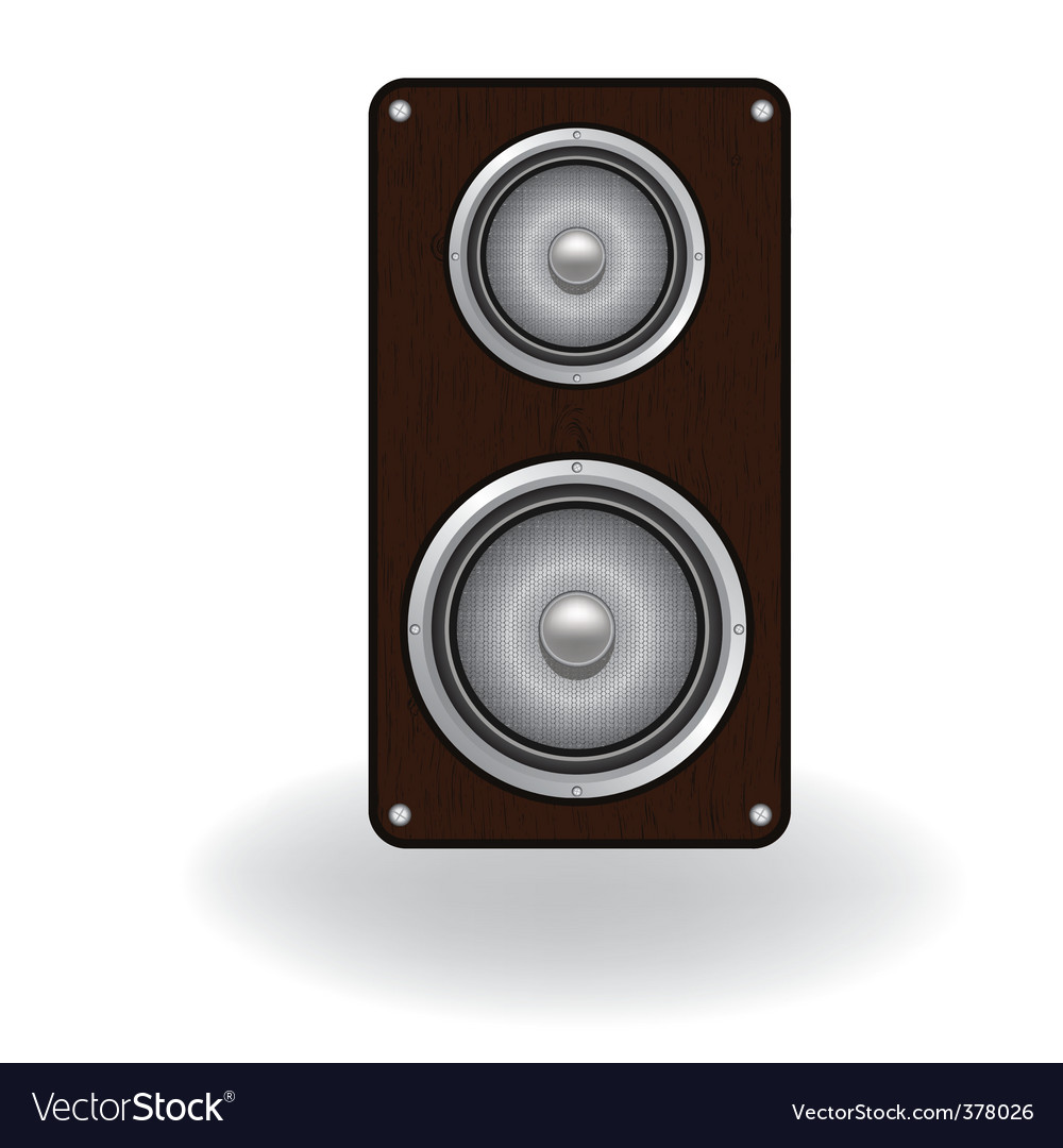 Wooden loud speaker vector image