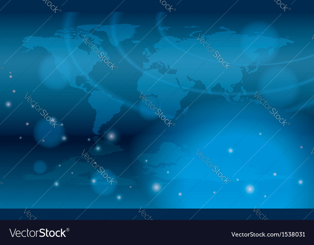 Abstract background with bokeh and map