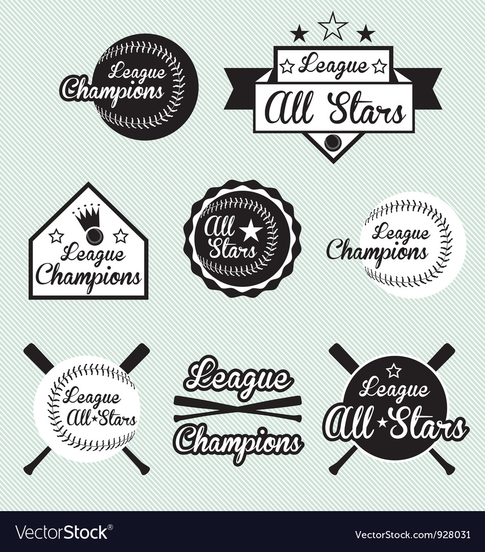 Baseball All Star Labels