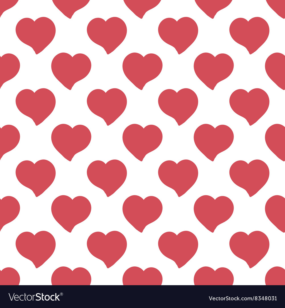 Big red hearts hand drawn artistic isolated